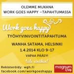 Flow Mentaalivalmennus mukana Work Goes Happy -tapahtumassa!