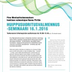 Huippusuoritusvalmennus Savonlinnassa 16.1.2016!