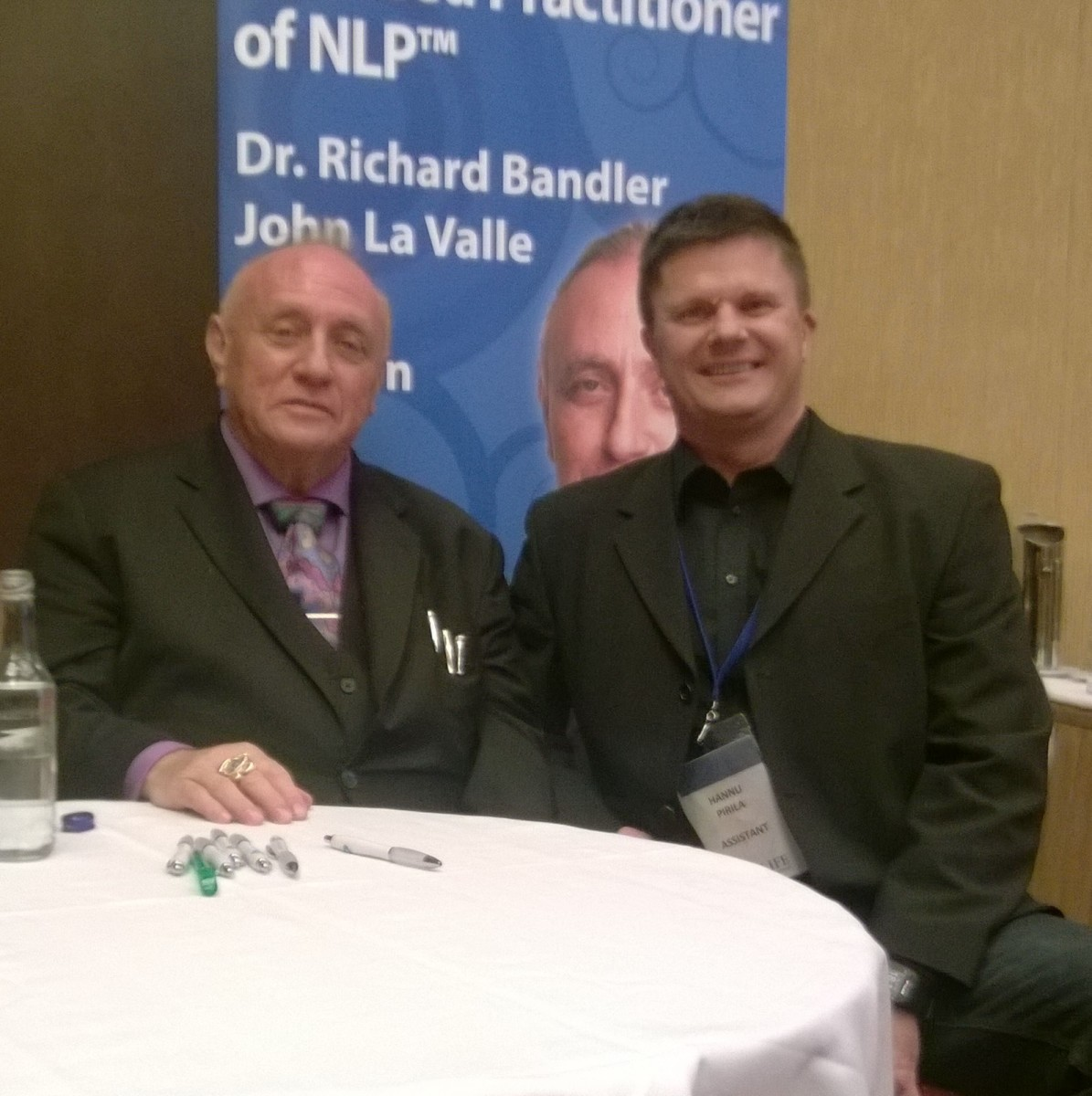Richard Bandler and Hannu Pirilä in London 10-2016