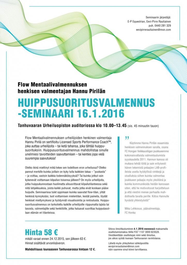 Huippusuoritusvalmennus Savonlinnassa 1-2016