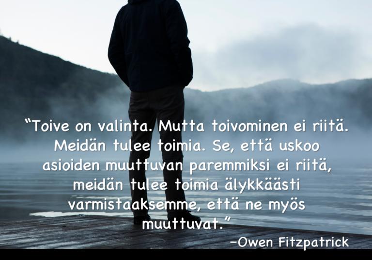 Toive ja toiminta - Owen Fitzpatrick